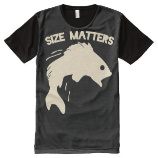 Size matters fishing humor All-Over print T-Shirt