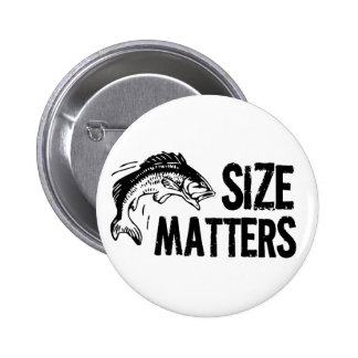 Size Matters! Funny Fishing Design 6 Cm Round Badge