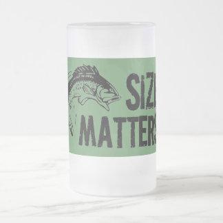 Size Matters! Funny Fishing Design Coffee Mug