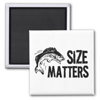 Size Matters! Funny Fishing Design Square Magnet