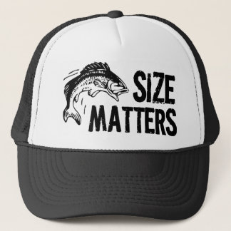 Size Matters! Funny Fishing Design Trucker Hat