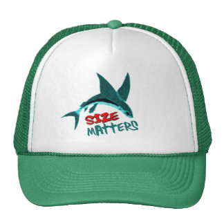 size matters funny fishing hat
