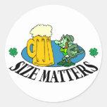 Size Matters - Irish Drinking Gift Round Sticker