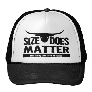 Size Matters - Longhorn Cattle Co Funny Cow Mesh Hats