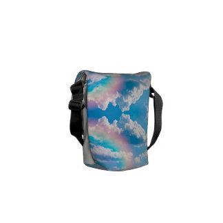 Size mines Sky with rainbow Messenger Bag