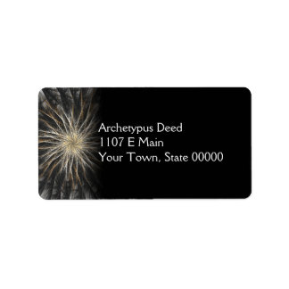 Sizzle Version 2 Fractal Abstract Art Address Label