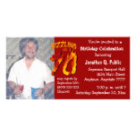 Sizzling At 70 Birthday Party Photo Invitation Customised Photo Card