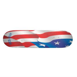 Sk8-ers American Flag Skateboard