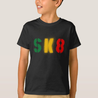 sk8 estencil rasta flag T-Shirt