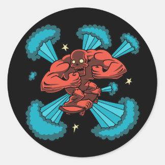 Sk8er Demon Round Sticker