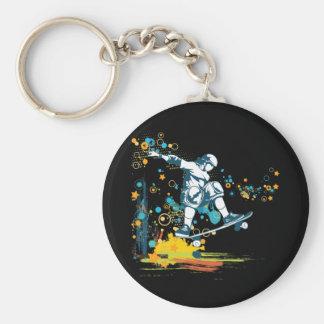 sk8er skateboarder vector basic round button key ring
