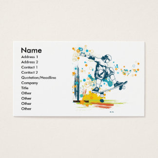 sk8er skateboarder vector business card