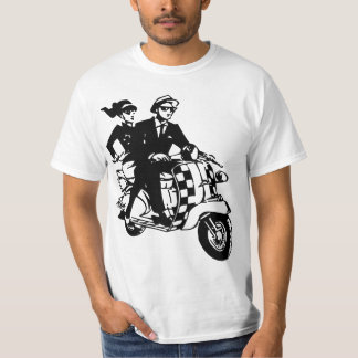 Ska Couple on Scooter Shirts