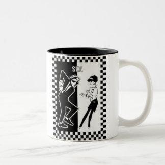 ska dancers, ska dancers Two-Tone coffee mug
