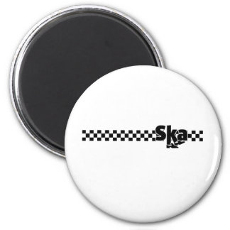 SKA Dancing Feet with Checkers 6 Cm Round Magnet
