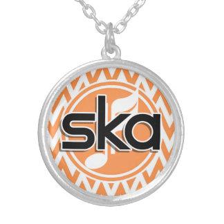 Ska Orange and White Chevron Custom Jewelry