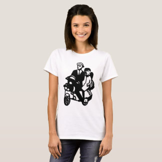 Ska Scooter Scootering Couple T-Shirt