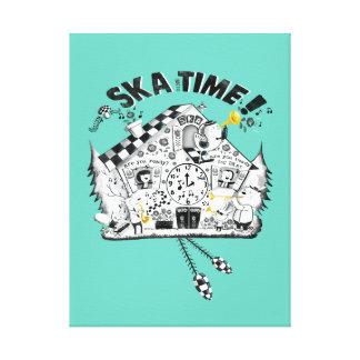 Ska Time Cuckoo Clock Stretched Canvas Prints