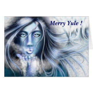 Skadi Merry Yule greeting card by Nellis Eketorp