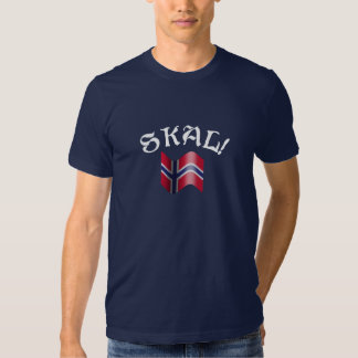 Skal Norwegian Flag Toast from Norway Shirts