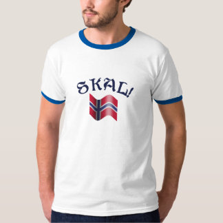 Skal Norwegian Flag Toast from Norway T-Shirt