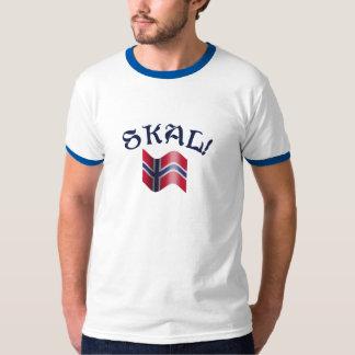 Skal Norwegian Flag Toast from Norway Tshirts