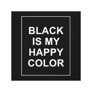 SKAM - BLACK IS MY HAPPY COLOR CANVAS PRINT