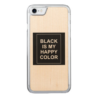 SKAM - BLACK IS MY HAPPY COLOR CARVED iPhone 8/7 CASE