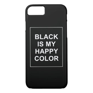 SKAM - BLACK IS MY HAPPY COLOR iPhone 8/7 CASE