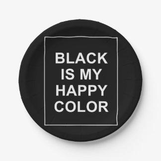 SKAM - BLACK IS MY HAPPY COLOR PAPER PLATE