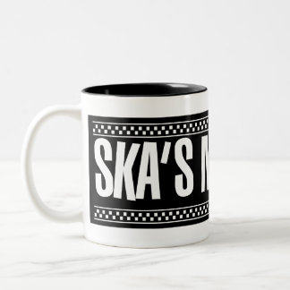 Ska's Not Dead! - White Two-Tone Coffee Mug