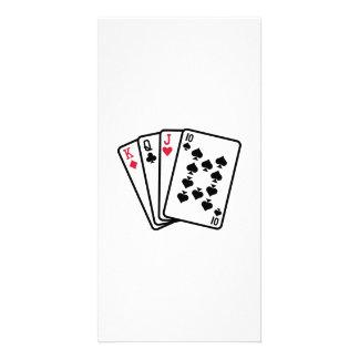 Skat cards personalised photo card