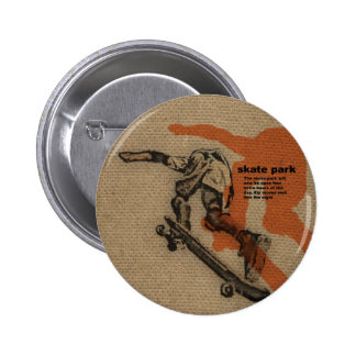 Skate 6 Cm Round Badge