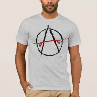 skate anarchy light t-shirt