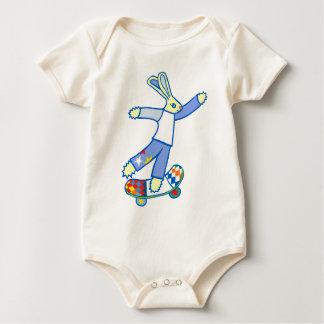 Skate Board Bunny Baby Bodysuit