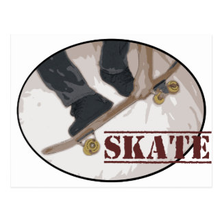 Skate Board Round Postcard