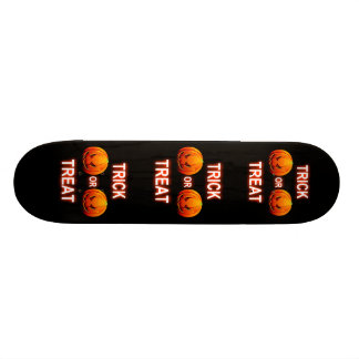 Skate Board Trick Or Treat Pumpkins