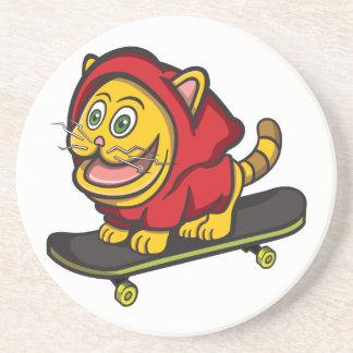 Skate Cat Beverage Coaster