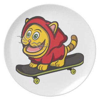 Skate Cat Dinner Plates