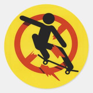 skate classic round sticker