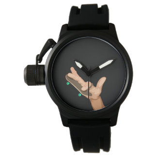 Skate clock watch