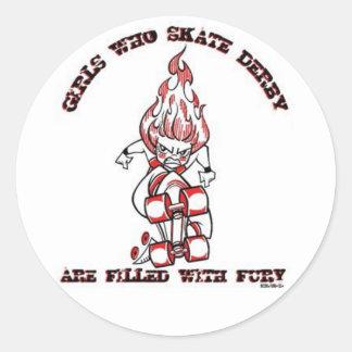 Skate Derby Classic Round Sticker