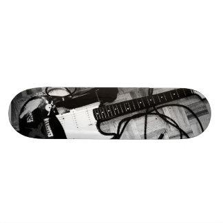 """Skate """"Guitar (Black and white) """" Custom Skateboard"""