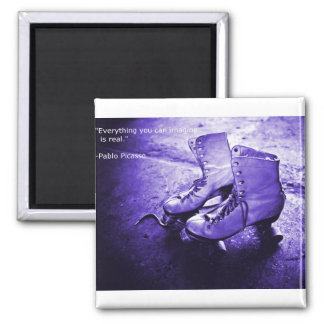 Skate inspiration square magnet