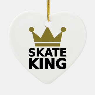 Skate King Ceramic Heart Ornament