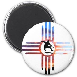 Skate New Mexico 6 Cm Round Magnet