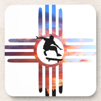 Skate New Mexico Beverage Coasters