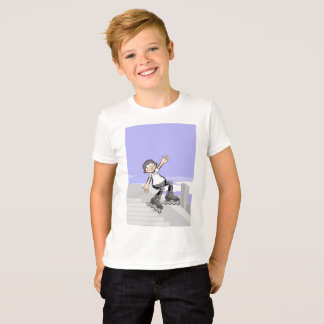 Skate on cap wheels young lowering steps T-Shirt