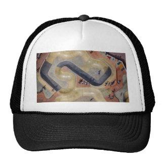 Skate park aerial view mesh hat