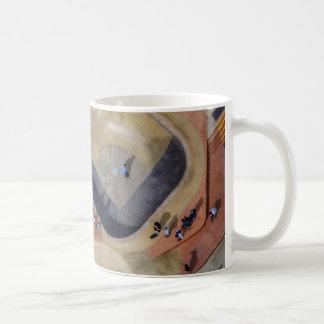Skate park aerial view mug